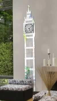 """Декоративные часы  и набор зеркал """"Биг бен"""""""