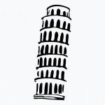 """Виниловая наклейка """"Пизанская башня"""""""