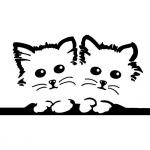 """Наклейка на автомобиль """"Котята"""""""