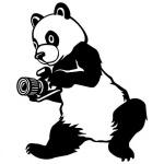 """Наклейка на автомобиль """"Панда с фотоаппаратом"""""""