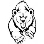 """Наклейка на автомобиль """"Медведь"""""""