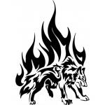 """Наклейка на автомобиль """"Огненный волк"""""""