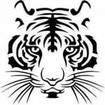 """Наклейка на автомобиль """"Тигр 2"""""""