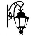 """Виниловая наклейка """"Старый фонарь"""""""