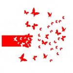 """Виниловая наклейка """"Взлет бабочки"""""""