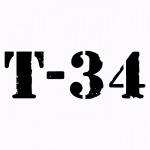 """Виниловая наклейка """"Т-34"""""""