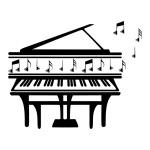 """Виниловая наклейка """"Фортепиано"""""""