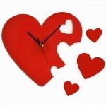 """Декоративные часы """"Сердечки"""""""
